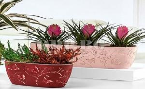 Сандъче за Цветя с Вградени 3D Пеперуди в Цвят по Избор