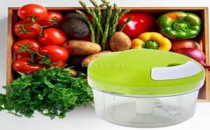 Ръчен Чопър за Зеленчуци с Две Приставки