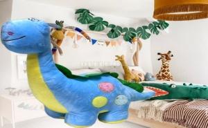 Сладурски Цветен Плюшен Динозавър