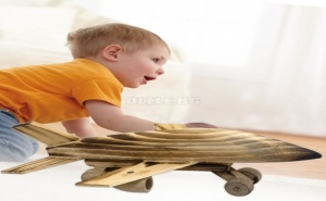 Дървена Играчка Самолет Изтребител