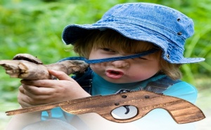 Дървена Играчка Пистолет