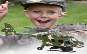 Детски Военен Хеликоптер със Светлини и Звук