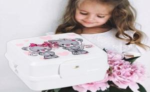 Детска Кутия за Храна с Прибори Котета