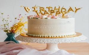 Страхотни Златисти Свещи за Торта Happy Birthday
