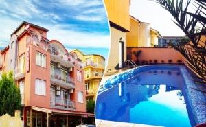 Нощувка или Нощувка със Закуска на човек + Басейн Топ Цени в Хотел Денис, Равда