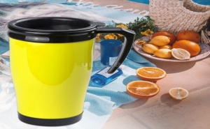 Цветна Чаша за Кафе с Капак и Дръжка