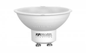 Led Двуцветна Крушка за Лампа Silver Electronics Eco Gu10 7W 6000K (Бяла Светлина)