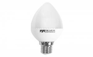 Led Крушка за Лампа Тип Свещ Silver Electronics Eco E14 5W 3000K A+ (Топла Светлина)