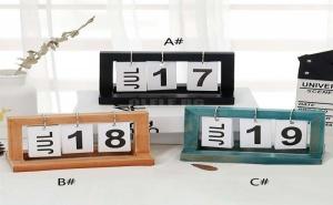 Дървен Декоративен Календар Creative Wooden Calendar