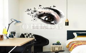 Фотостикер за Декорация на Дома или Офиса Око с Мигли
