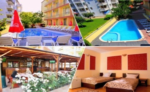 Нощувка на човек със Закуска и Вечеря + Басейн в Хотел Риор, <em>Слънчев бряг</em>. Дете до 12Г. – Безплатно!