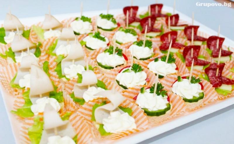 За Вашето Незабравимо Парти - 60 бр. Вкусни Коктейлни Хапки от Мечо Фууд & Кетъринг