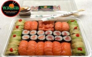 """Суши сет """"Съндей спешъл суши сет и сашими"""" – 38 БР. 1150 ГР.от ресторант Wasabi garden, София"""
