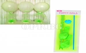 Комплект Балони с Тюл (2 Броя с Аксесоари) Зелени