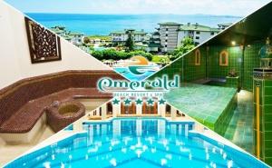 Нощувка на човек в апартамент с гледка море със закуска + басейн и релакс център в хотел Емералд Резорт Бийч и СПА*****, Равда
