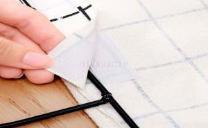 Карирана Текстилна Кошница за Стена с Метална Дръжка