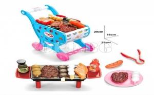 Количка за Супермаркет с Барбекю и Продукти