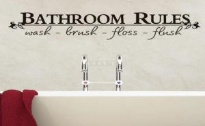 Декоративен Стикер Bathroom Rules