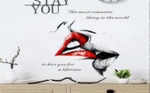 Декоративен Стикер за Стена Целувка
