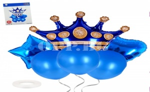 Комплект Балони Корона Сини (6 Броя)
