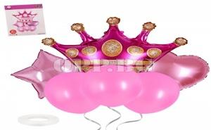 Комплект Балони Корона Розови (6 Броя)