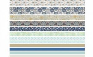 Сет 12 Броя Декоративно Винтидж Тиксо Mixed Pattern Washi Tape