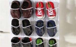 Закачащ се Прозрачен Органайзер за Обувки за Врата